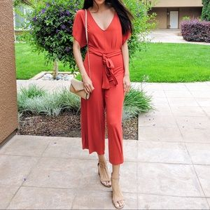 Forever21 Orange Jumpsuit
